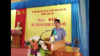Mặt trận Tổ quốc phường Thanh Sơn tọa đàm