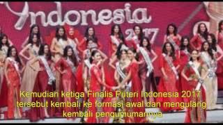 Sumber: Tribunnews.com Insiden mengejutkan terjadi di malam puncak Grand Final Puteri Indonesia 2017 yang disiarkan secara live