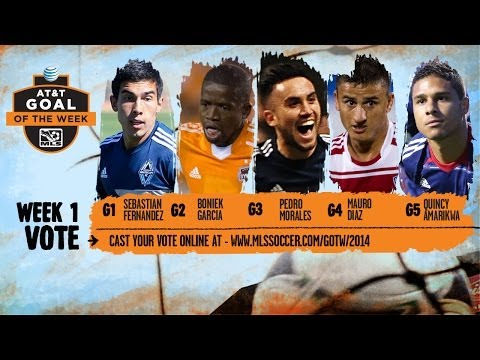 Video: 2014 AT&T Goal of the Week Nominees: Week 1