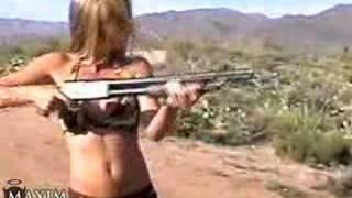 Hotties Shooting Guns