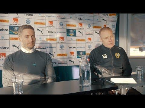 Presskonferens efter förlusten mot Hammarby