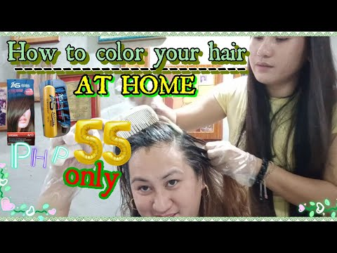 Hair color - HOW TO COLOR YOUR HAIR AT HOME ft ASHLEY SHINE Php55 I Euanne Hyuna
