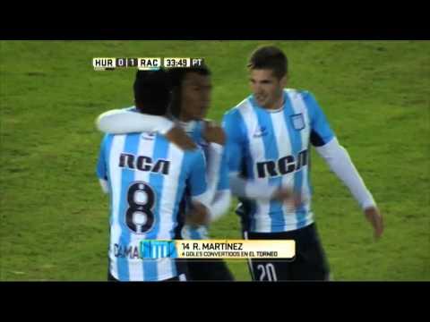 Gol de Martínez. Huracán 0 - Racing 1. Fecha 13. Primera División 2016.