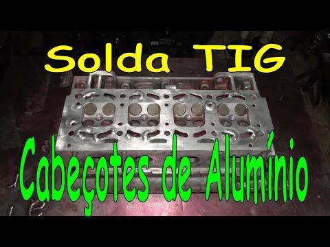 Solda TIG - Recuperação de cabeçote de alumínio
