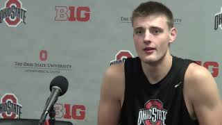 Ohio State sophomore center Micah Potter feels good about the direction of the program under new coach Chris Holtmann.