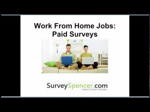 Work From Home Jobs: Paid Surveys