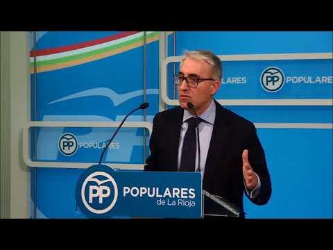 Garrido valora las enmiendas del PSOE a los Presupuestos de La Rioja para 2018