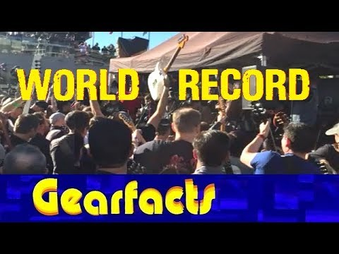 Largest ever electric guitar ensemble world record attempt: Success!