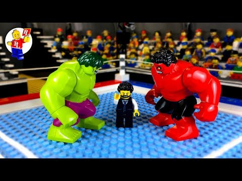 Hulk Against the Red Hulk 🔴 Legenda Animasi 🔵 Lego Pahlawan Super Dalam Kehidupan Nyata