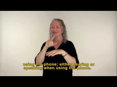 Auslan video of National Relay Service