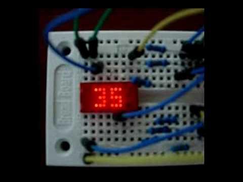 One 5x7 Led Dot Matrix Clock