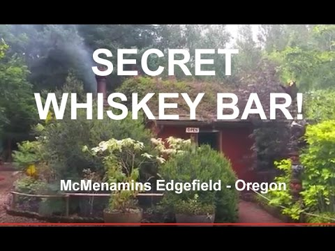 Flower Garden and Secret Whiskey Bar at McMenamins Edgefield, Oregon (видео)