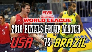 Video USA vs  BRAZIL 2016 World League Volleyball FINALS Group Match   FULL MATCH All Breaks Removed MP3, 3GP, MP4, WEBM, AVI, FLV November 2018
