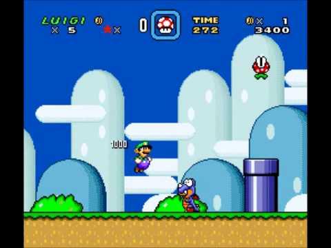 Super Mario World - Luigi sprite comparison