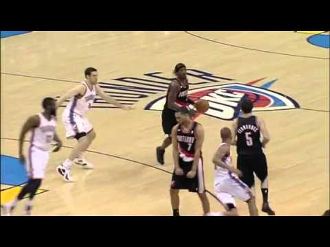 Rudy Fernandez to Gerald Wallace against Thunder