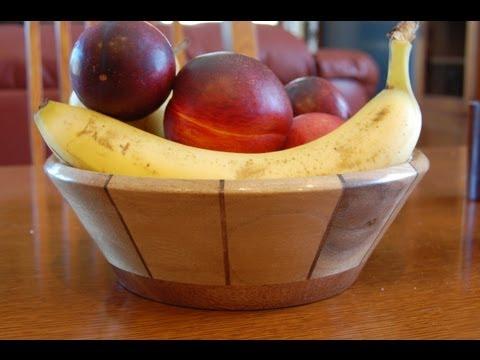 Segmented Woodturning - How to Turn a Fruit Bowl Video - Wood Lathe Methods - Part 1