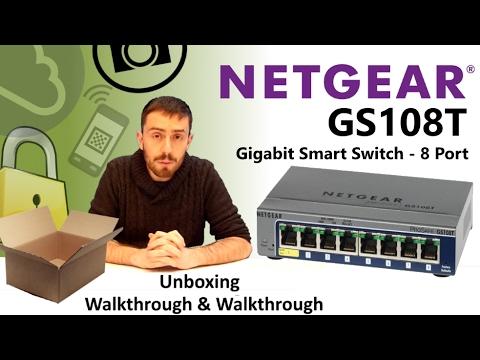 The NetGear Gigabit Smart Switch GS108T-200UKS 8-Port Unboxing and Talkthrough