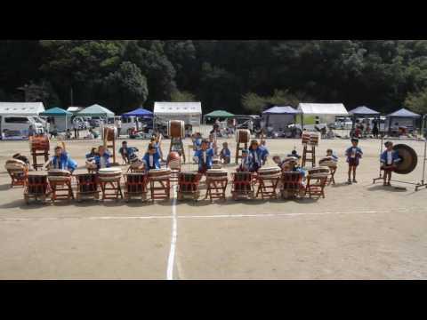 (20161001)源空寺保育園運動会:和太鼓;黄・青・白組