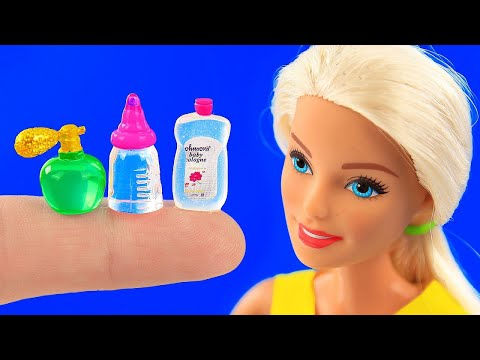 10 DIY Barbie Hacks! ~ Makeup Box, Fortnite-themed Desk,watermelon Slime! And More