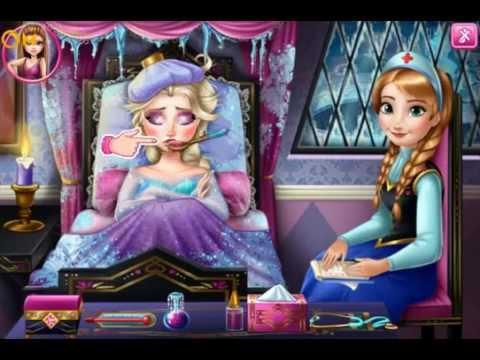 Disney Frozen Game - Frozen Flu Doctor Baby Videos Games for Kids