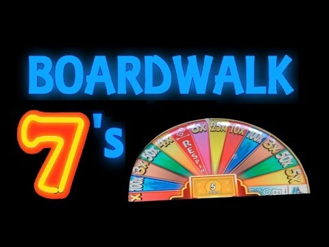 ★ BOARDWALK SEVENS!! Monopoly Boardwalk Sevens Slot Machine Bonus Spins! ~ WMS (DProxima)