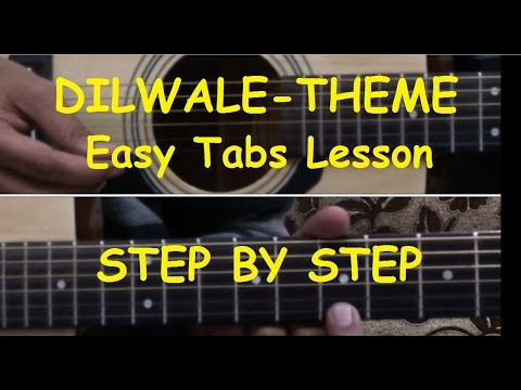 Janam Janam-Dilwale Guitar/Piano tabs Lesson |Rock version | Walkband |Dilwale Theme | Arijit | srk