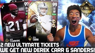 WE GET ULTIMATE TICKETS DEREK CARR & DEION SANDERS! MADDEN 17 ULTIMATE TEAM