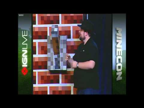 Notch Markus Peerson releases Minecraft 1.0.0 [MINECON 2011 LIVE]