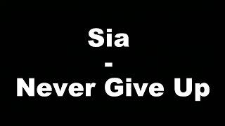 Download Lagu Sia - Never Give Up (Hungarian lyrics\Magyar felirat) Mp3