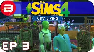 Sims 4 City Living Gameplay - ALIEN BRAIN SCAN!!! #3 (Let's Play Sims 4 City Living)
