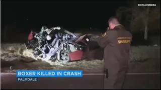 Boxer Cesar Diaz Was Killed When He Lost Control Of His Car And Crashed Into A Tree In Palmdale On F