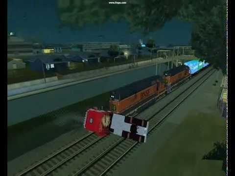 Truck vs Train - gta sa