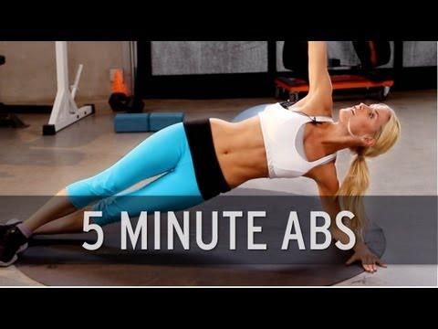 每天五分鐘就可以練出腹肌  快跟小腹腹說掰~