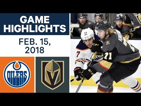 Video: NHL Game Highlights | Oilers vs. Golden Knights - Feb. 15, 2018