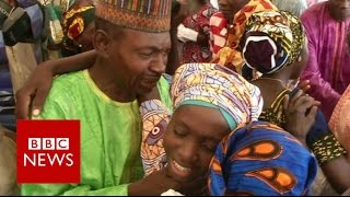 Tears of joy for reunited Chibok girls - BBC News