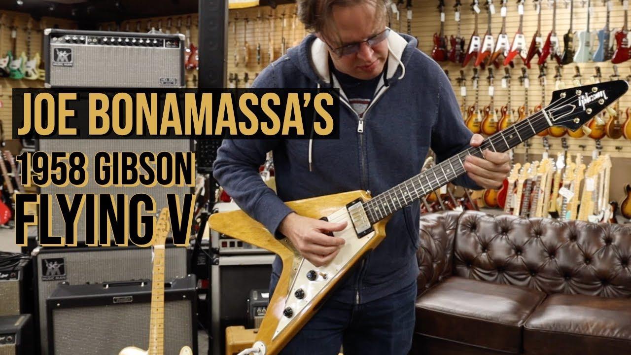 Show & Tell with Joe Bonamassa's 1958 Gibson Flying V at Norman's Rare Guitars