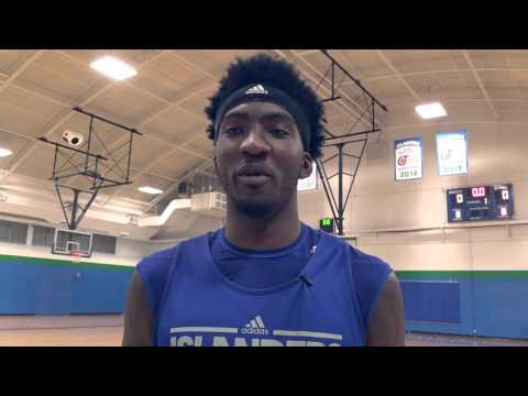 Feature: Rashawn Thomas leads Islanders MBB into Conference Play