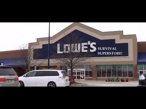 What survival kit items can I find at Lowes? (видео)