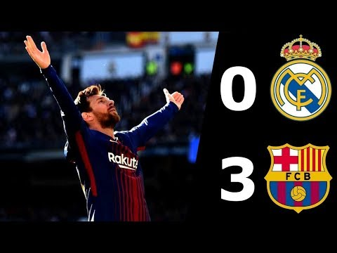 Real Madrid VS Barcelona (0-3) Full Time All Goals and Highlights - Laliga - 23-12-2017