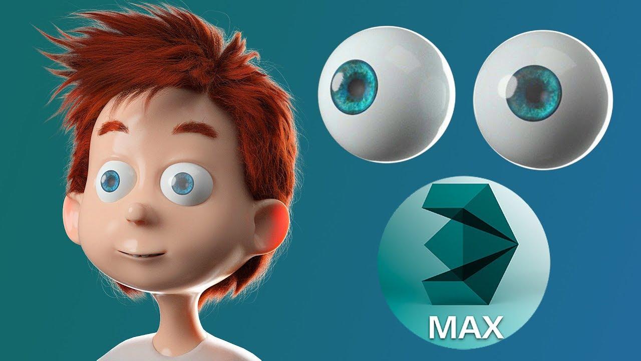 3ds max tutorials modeling and rendering cartoon eyes raveecg tutorials