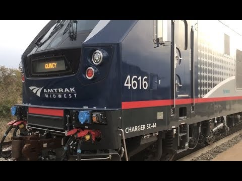 Amtrak Midwest - Siemens SC-44 Charger 4616 in Quincy, IL 10/31/2017