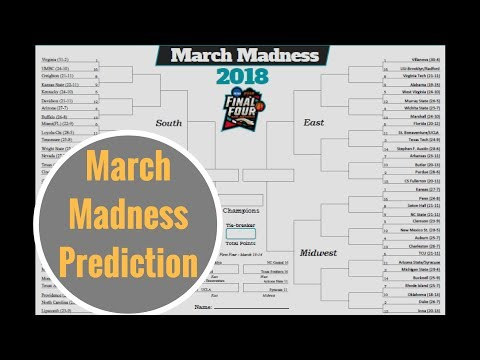 March Madness NCAA Tournament 2018 Prediction