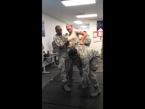US Air Force Woman Gets Tased