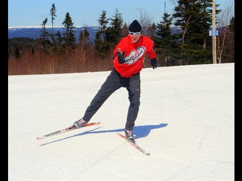 Cross or X Country Skiing-Free Skate Technique