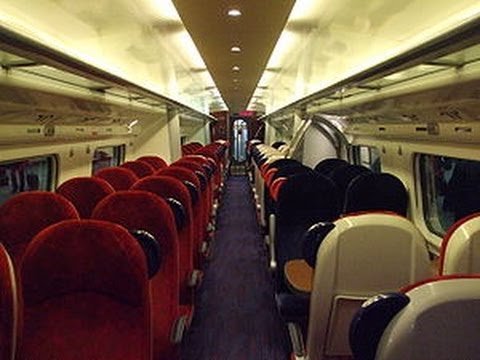 Walking  on Virgin Pendolino  Train :  Coach D