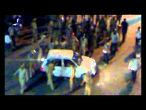 Police Lathi charge in dehradun after winning ICC world cup 2011