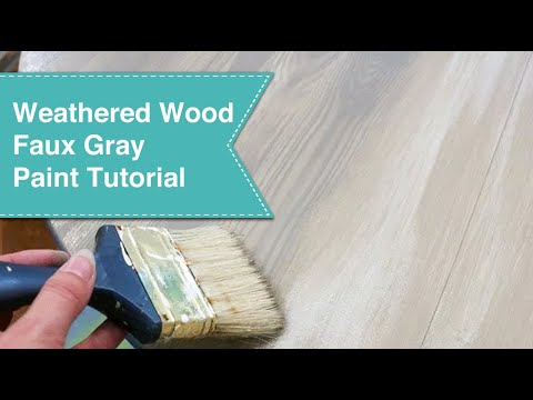 Faux Gray Weathered Wood Grain Tutorial