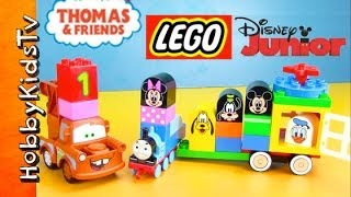 Mickey Mouse Train! Thomas the Train Joins with Disney Car Mater [Duplo] [Play-Doh] [LEGO]