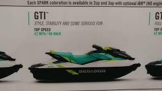 7. 2018 SEA DOO RECREATION GTS + GTI + GTI SE + GTI SE 130 + GTI SE 155 PERSONAL WATERCRAFT @ NY BOAT S