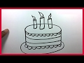 Cartoon Cake Drawing Easy